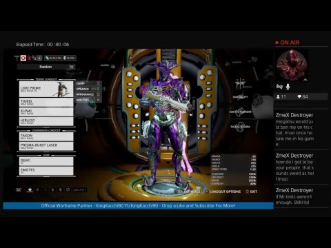 Warframe - Back From Vacation, Jet Lag Issues, Building Hydroid +Ballistica Prime, Nami Skyla Prime!
