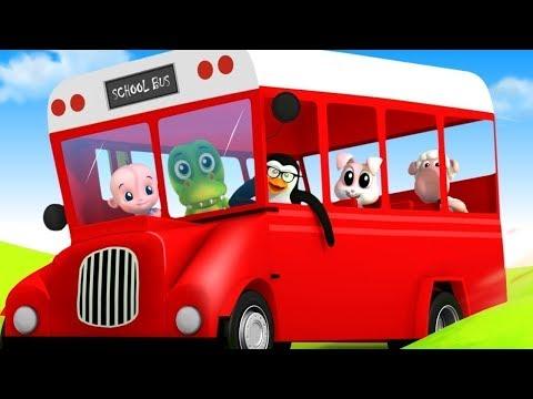 Wheels On The Bus | Nursery Rhymes & Kids Song | Baby Songs | Cartoon Videos for Kids