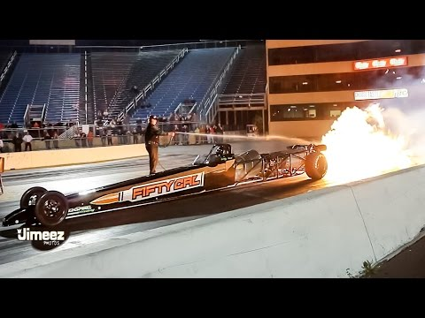 302MPH! SCOTTY HEAT'S 50 CAL JET DRAGSTER RUNS 5.23@302.14MPH AT RT66