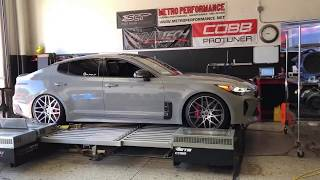 2018 Kia Stinger dyno run and chip comparisons