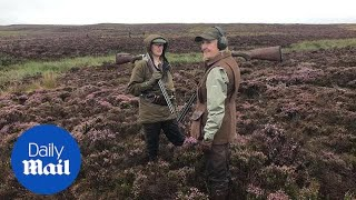 Annual grouse shooting season starts a day late for poor weather - Daily Mail