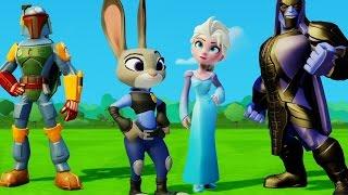 Зверополис Зайка Джуди и Боба Фетт спасают Эльзу Холодное сердце от Ронана Игра Дисней Disney