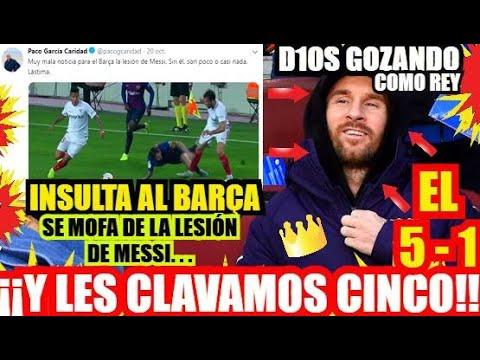¡¡ INSULTA AL BARÇA y LES MARCA CINCO !! FCBARCELONA NOTICIAS