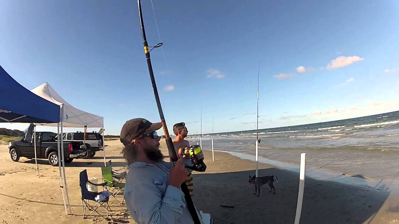 South texas surf fishing spanish mack youtube for Sound bound fishing