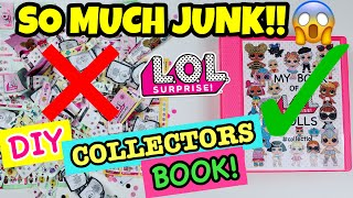 HOW TO ORGANIZE ALL THE JUNK THAT COMES WITH UR LOL SURPRISE DOLLS!! CREATE AN LOL COLLECTORS BOOK!