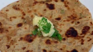 Mooli Paratha - Raddish Bread - By VahChef @ VahRehVah.com
