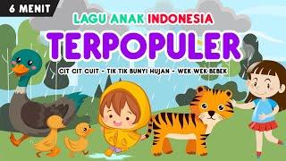 kompilasi lagu anak indonesia terpopuler part 7 | cit cit cuit, tik tik hujan, wek wek bebek