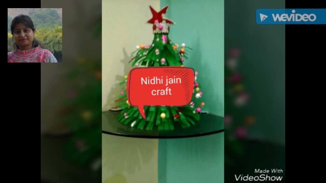 How to make Christmas tree // DIY //best out of waste bottle - YouTube