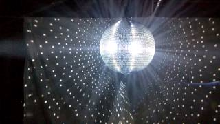 50 cm Mirror Ball with Pin Spots and some haze