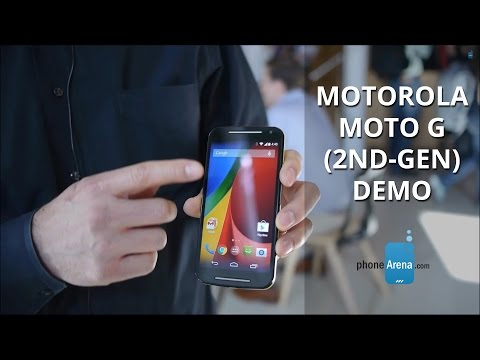 Motorola Moto G (2nd-gen) demo
