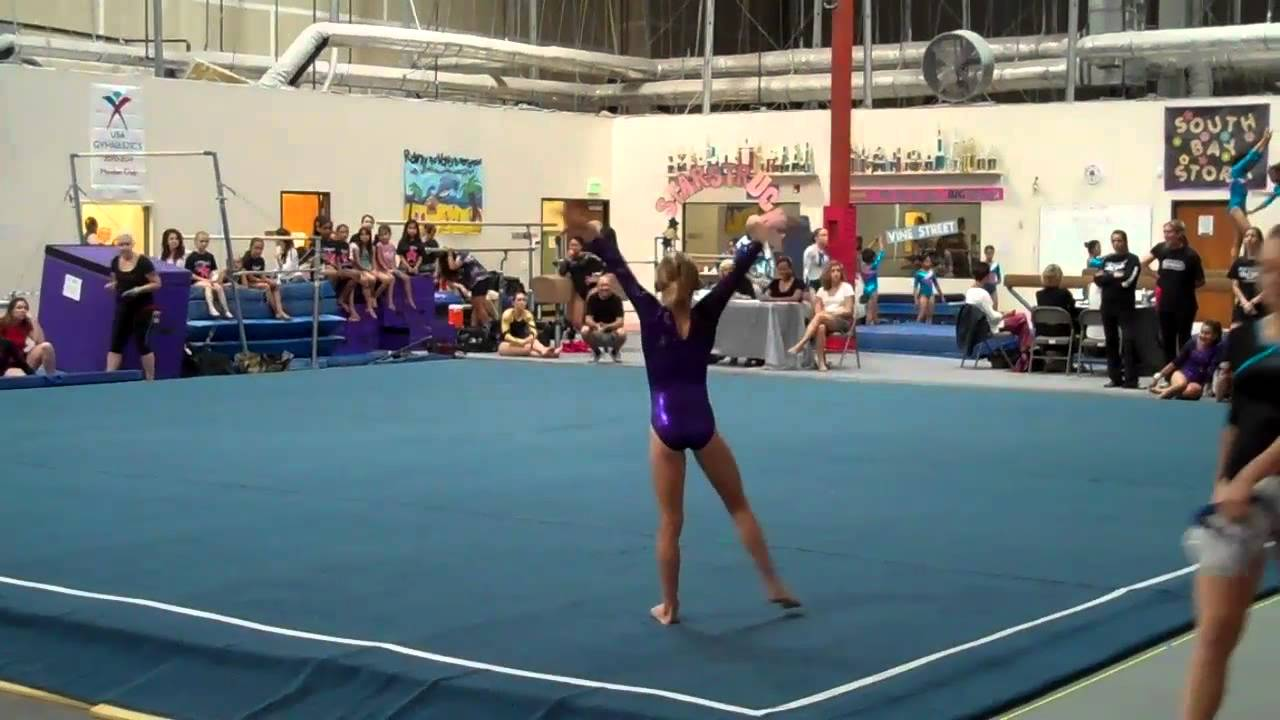 Gymnastics level 7 Floor routine 2011 - YouTube