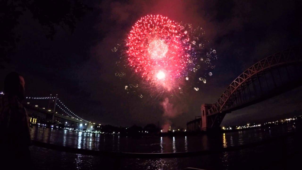 Astoria Park Fireworks Show Goodbye June Hello JULY