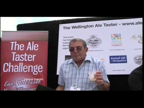 ITV News - Wellington Ale Taster Event, Wellington Market, Telford, UK - 25th September 2009