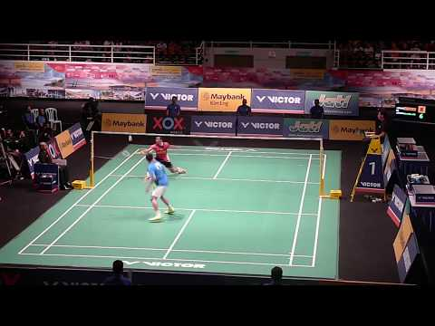 Lee Chong Wei Displays AMAZING Footwork And Technique - Nice Angle