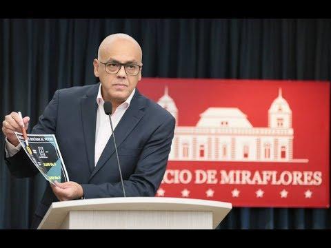 Jorge Rodríguez, rueda de prensa...