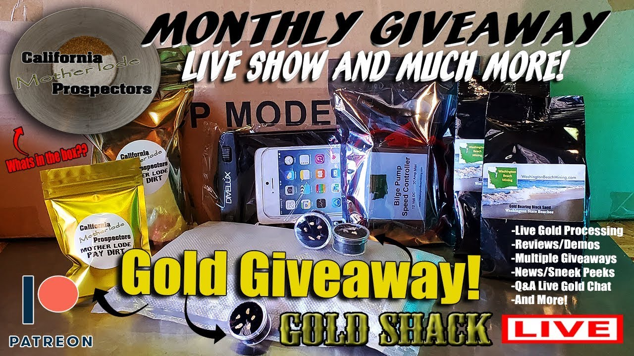 The Gold Shack Live - Gold Giveaway - Gold Processing - Live show!