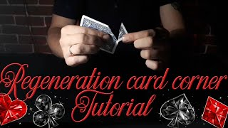 Regeneration card corner // card trick // tutorial