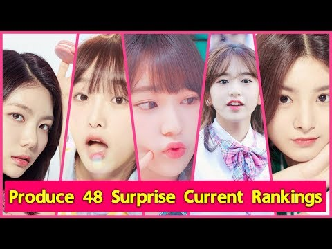 Produce 48 Surprise Current Rankings!! [June 20]