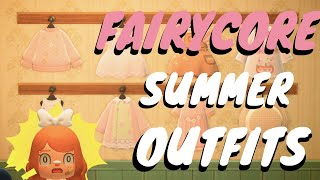 Fairycore Summer Outfit Designs For Acnh! // Animal Crossing: New Horizons Pro Designs And Qr Codes!