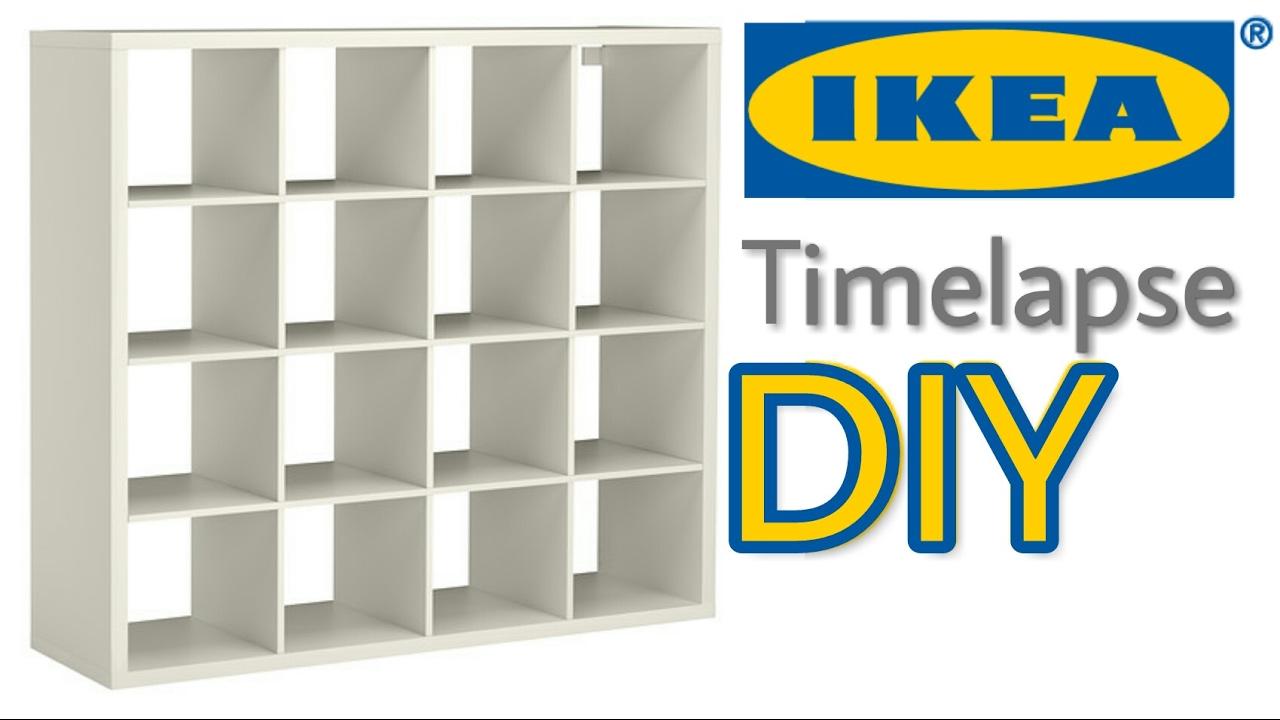 Ikea Timelapse How To Emble Kallax Shelf