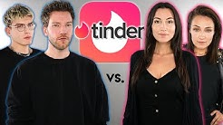 WER IST STÄRKER AUF TINDER? Regina & Ana vs Niek & Jan