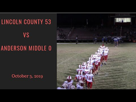 Lincoln County Middle School Vs Anderson County Middle School - October 3, 2019