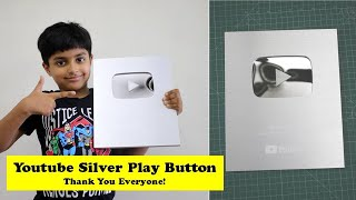 मेरा YOUTUBE SILVER PLAY BUTTON आ गया - Unboxing   Feels Awesome after 100k Subscribers - THANK YOU!
