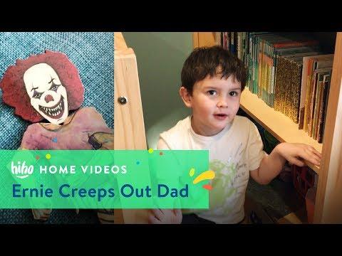 Ernie Creeps Dad Out | Home Videos | HiHo Kids