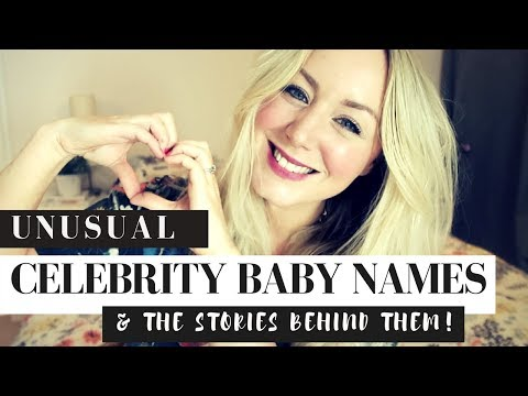 Unusual Celebrity Baby Names & The Stories Behind Them | SJ STRUM | BABY NAME MONDAYS