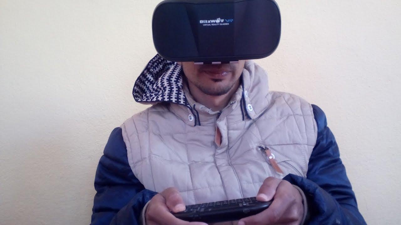 3ddfb5f06 نظارات العالم الافتراضي Review 3D VR Glasses Virtual Reality Headset ...