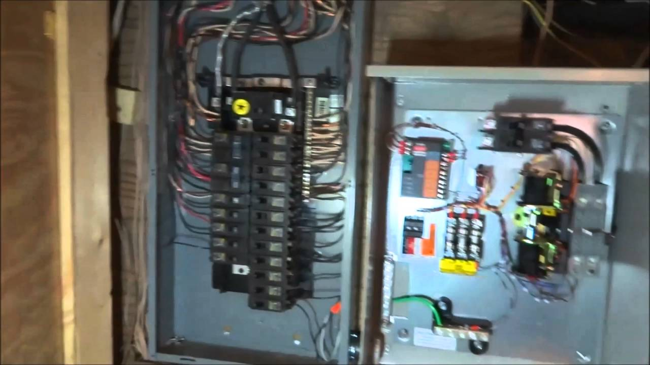 Wiring A Whole List Of Schematic Circuit Diagram Transfer Switch Likewise Generator Automatic Generac House Install Part 5 6 Youtube Rh Com Speaker System Fan