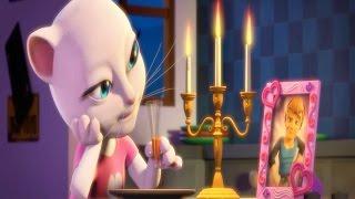 Говорящая кошка Анджела. Мультик игра видео для детей.talking tom and angela.Детский канал.
