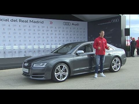 Real Madrid - Audi Car Handover the stars Ronaldo, Kroos etc