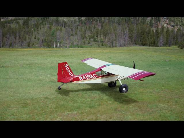 Root Ranch takeoff and departure Scout (drone footage)