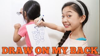 DRAW ON MY BACK CHALLENGE