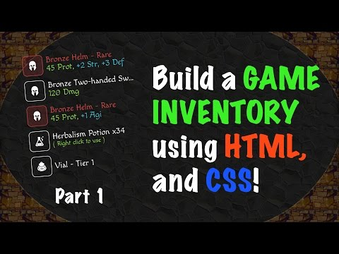 Building A GAME INVENTORY Using HTML And CSS - Part 1!