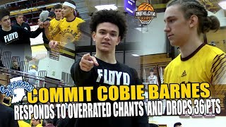 Indiana State (Commit) Cobie Barnes Responds To Over Rated Chants and PUT UP 36 Pts