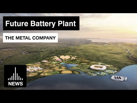 Future Battery-metals Plant, and Underwater Robots Designed by Bjarke Ingels for The Metals Company