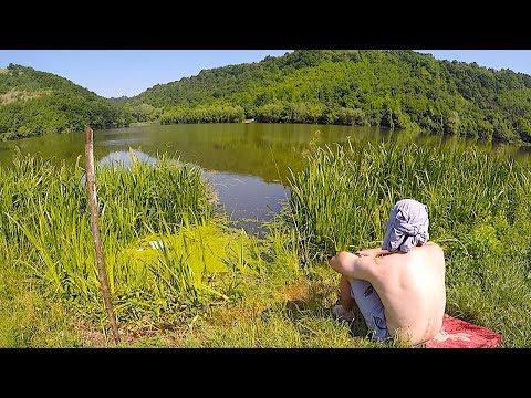 Рыбалка с Ночёвкой на дикой речке где нерестится Сазан и Карась