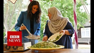 Meghan Markle praises women at Grenfell cookbook launch - BBC News