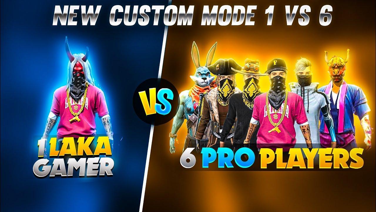 Download LAKA GAMER VS 6 DANGEROUS PLAYER // 1 VS 6 NEW CUSTOM MODE // 1 VS 6 CHALLANGE // WHO WON??