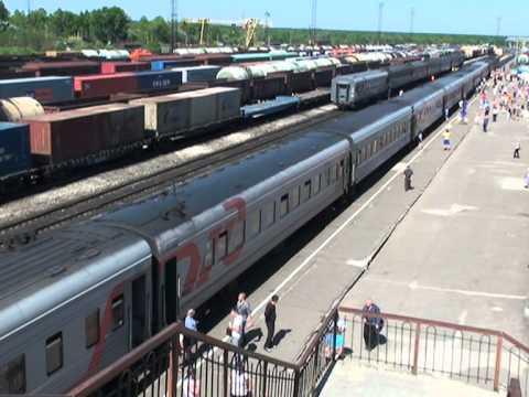 Станция МИКУНЬ, стоянка поезда С-Петербург - Воркута