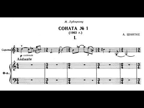 Alfred Schnittke: Sonata for Violin and Piano No. 1 (score) Duo Sabatini-Rugani