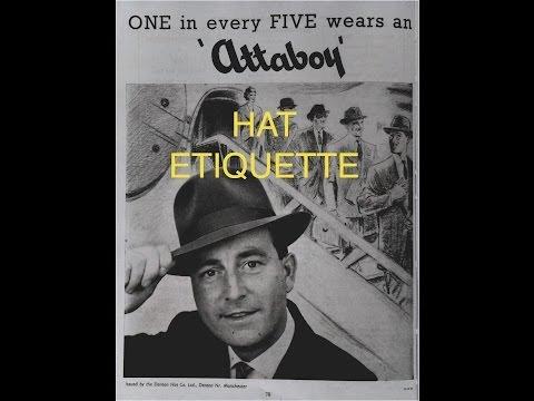 Gentlemen's Rule: Hat Etiquette (Part 1)