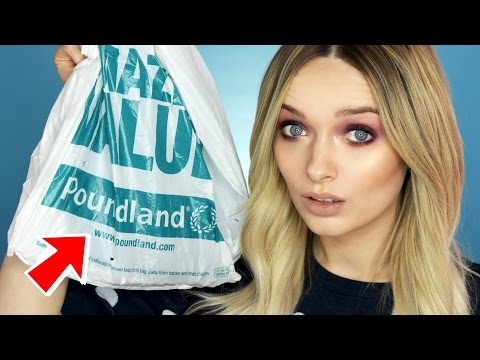 TESTING £1 MAKEUP FROM POUNDLAND! // MyPaleSkin