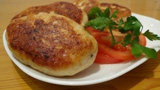 КОТЛЕТЫ КУРИНЫЕ С СЫРОМ  /  Chicken cutlets with cheese