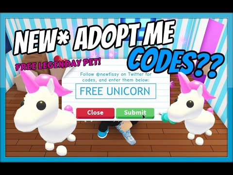 New Adopt Me Codes Free Unicorn 2019 Roblox Youtube