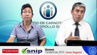 SNIP - Sistema Nacional de Inversión Pública (Tendencias 2015)