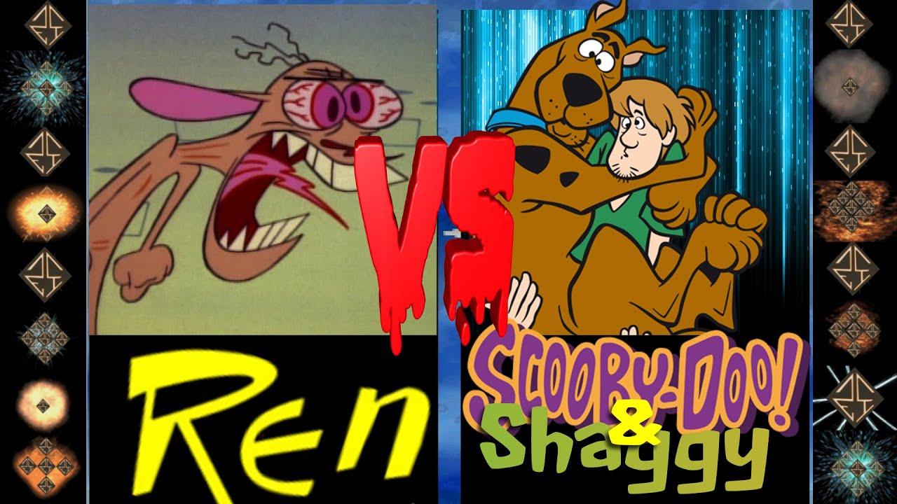Download Ren (John Kricfalusi) vs Scooby Doo & Shaggy (Hanna-Barbera) - Ultimate Mugen Fight 2016