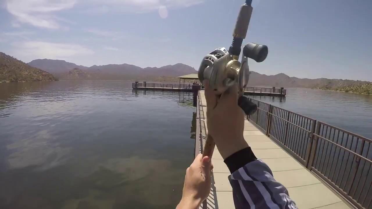 Bartlett lake pier fishing 2017 youtube for Bartlett lake fishing report